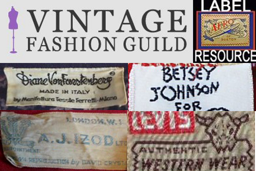 Dating vintage clothing labels
